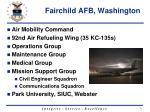 fairchild afb washington