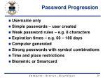 password progression