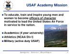usaf academy mission