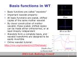 basis functions in wt
