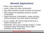 wavelet applications