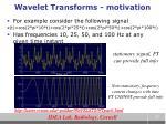 wavelet transforms motivation