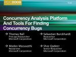 concurrency analysis platform and tools for finding c o ncurrency bugs