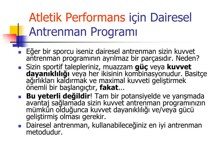 Atletik Performans