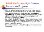 atletik performans i in dairesel antrenman program