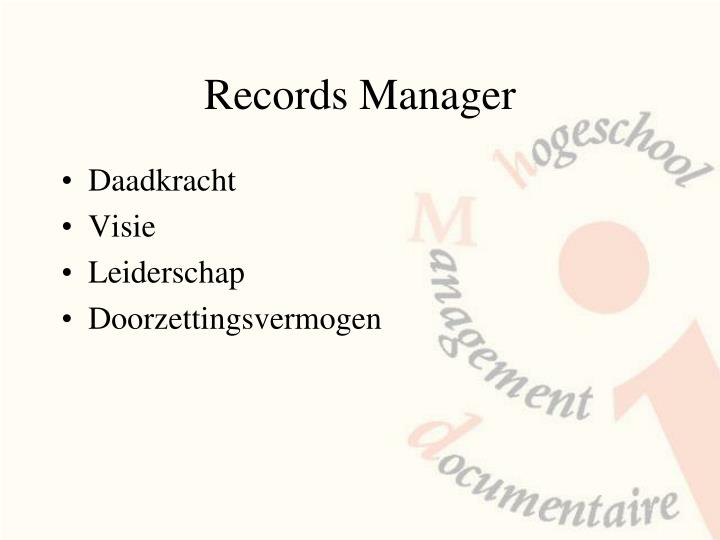 Records manager