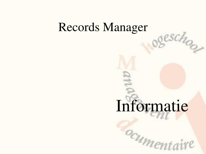 Records manager1