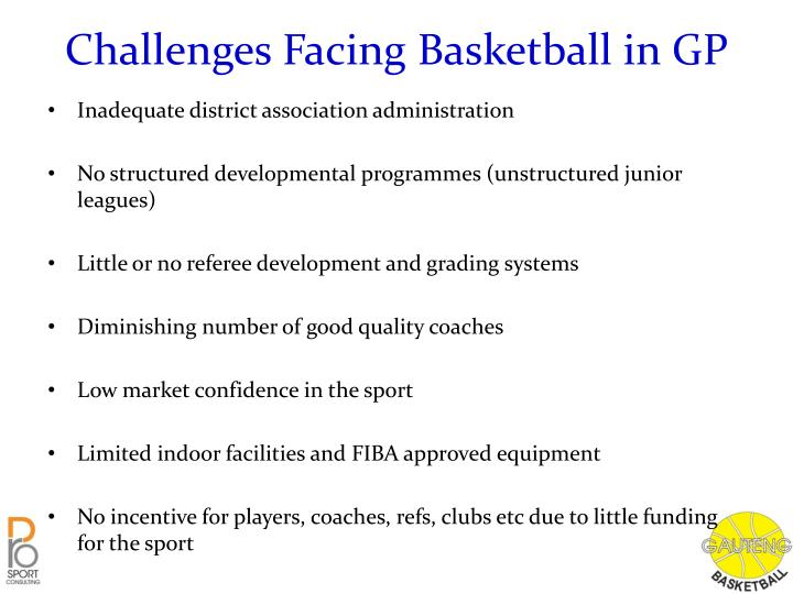 Challenges Facing Basketball in GP