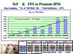 tof ffs to promote ipm
