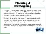 planning strategizing