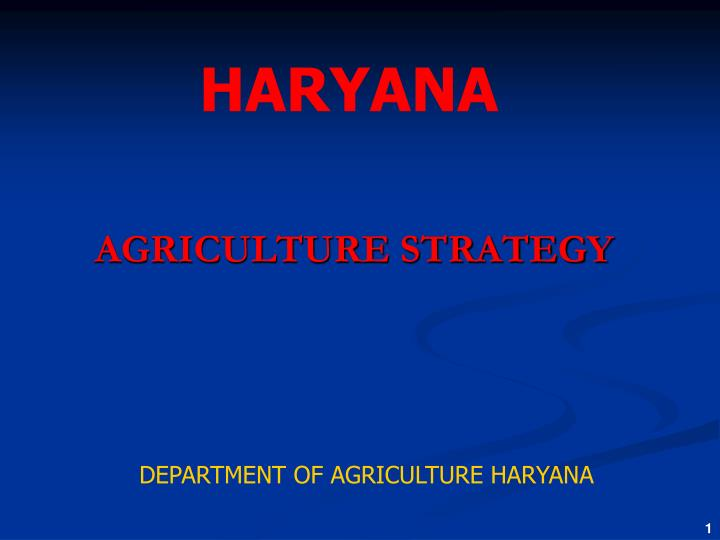 agriculture strategy n.
