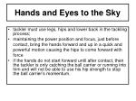 hands and eyes to the sky