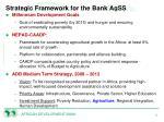 strategic framework for the bank agss