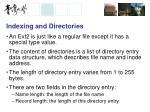 indexing and directories