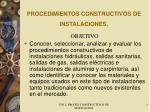 procedimientos constructivos de instalaciones