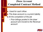 draw account completed contract method