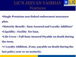 lic s jeevan vaibhav features