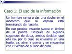 caso 1 el uso de la informaci n