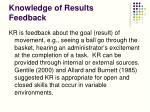 knowledge of results feedback