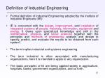 definition of industrial engineering