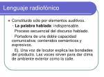 lenguaje radiof nico