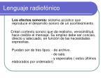 lenguaje radiof nico1