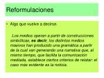reformulaciones