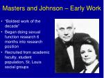 masters and johnson early work