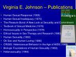 virginia e johnson publications