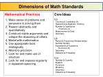 dimensions of math standards