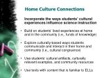 home culture connections