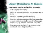 literacy strategies for all students