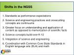 shifts in the ngss