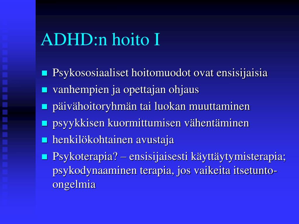 Hyperkineettinen Käytöshäiriö