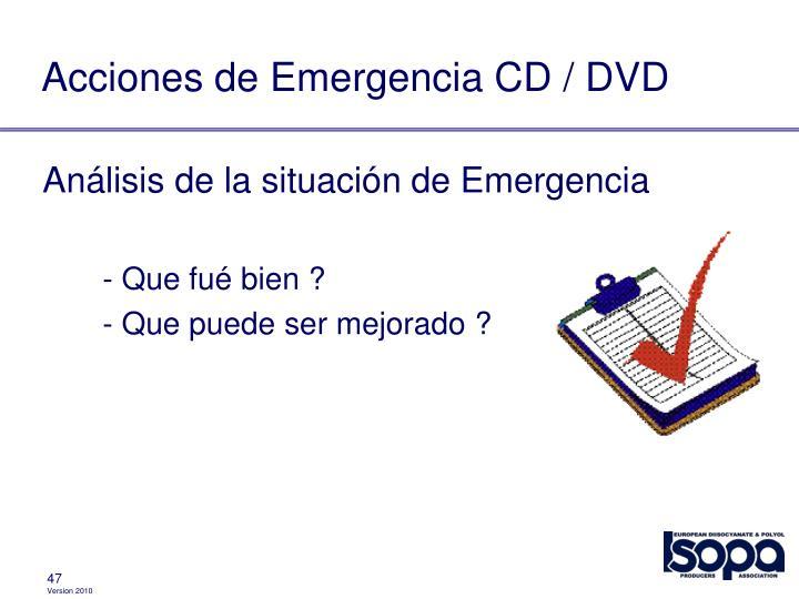 Acciones de Emergencia CD / DVD