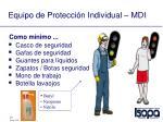 equipo de protecci n individual mdi