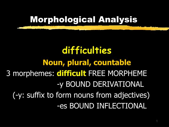 differentiating between lexical and inflectional morphology 10 inflectional morphology points is whether there is a clear difference between the structure of nally derived lexical item in order to ensure that.