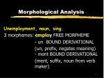 morphological analysis10