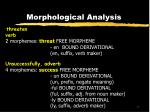 morphological analysis11