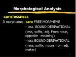 morphological analysis12