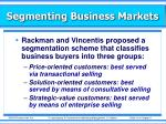 segmenting business markets1