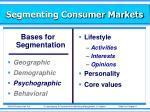 segmenting consumer markets2