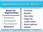 segmenting consumer markets3