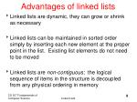 advantages of linked lists