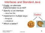 interfaces and standard java