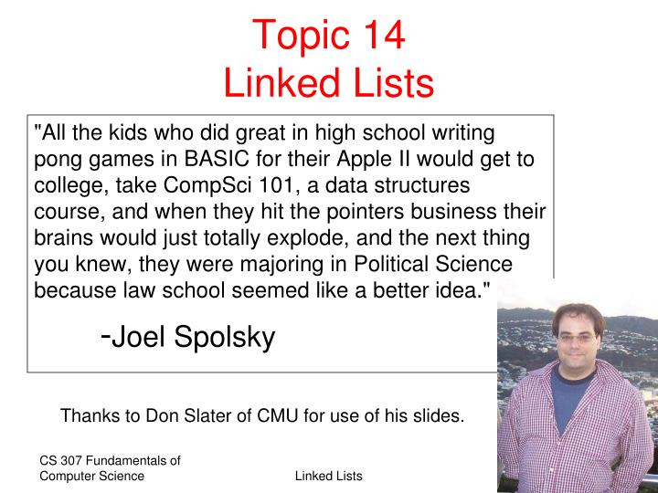 topic 14 linked lists n.