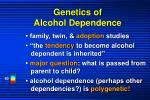 genetics of alcohol dependence