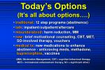 today s options it s all about options