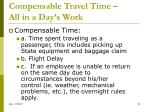 compensable travel time all in a day s work