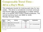 compensable travel time all in a day s work5